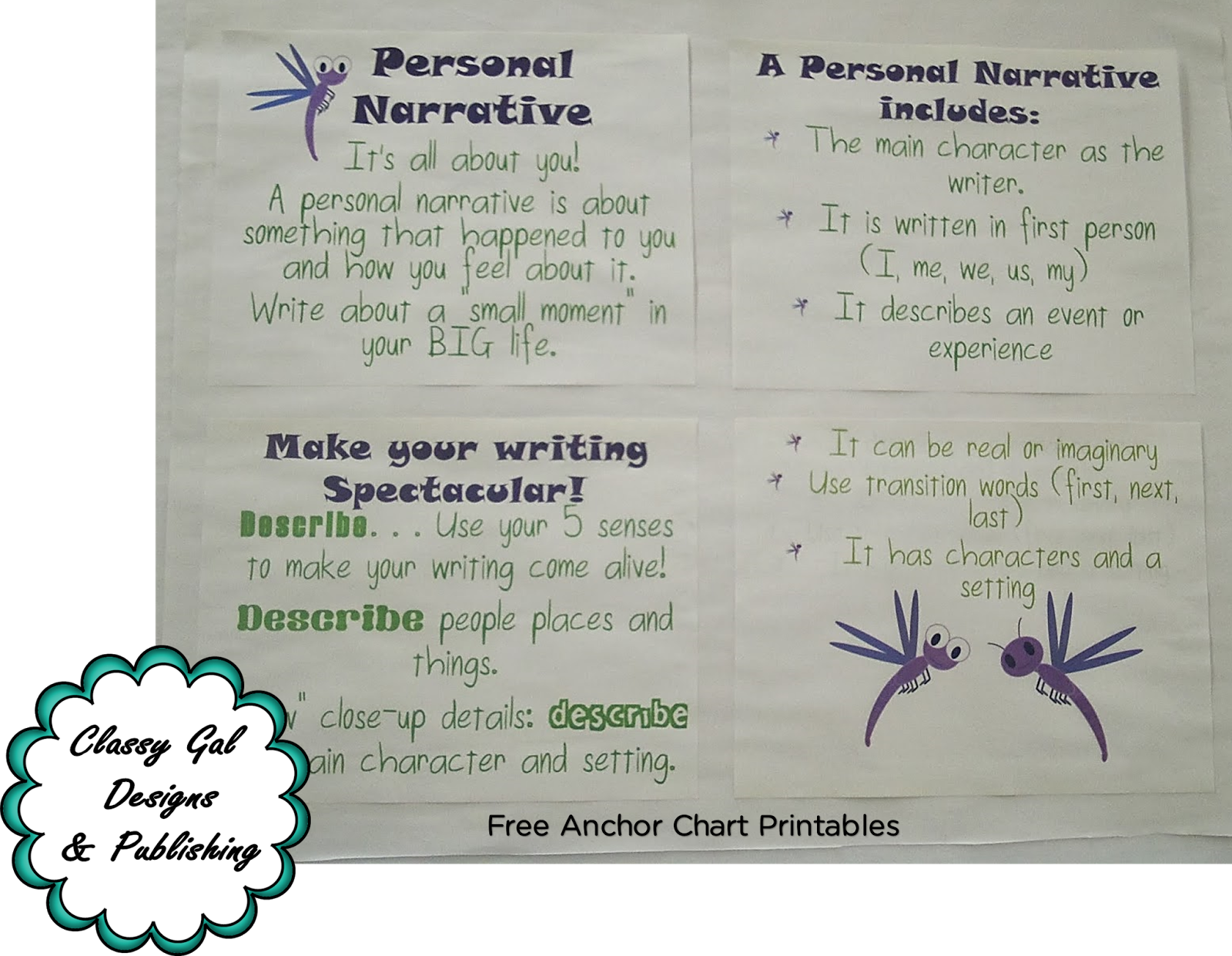 classy gal designs and publishing: downloadable personal narrative