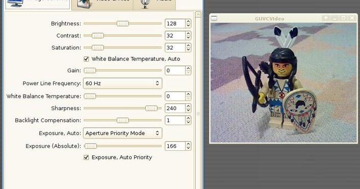 O Espaço do Software Livre: Guvcview - controle total para