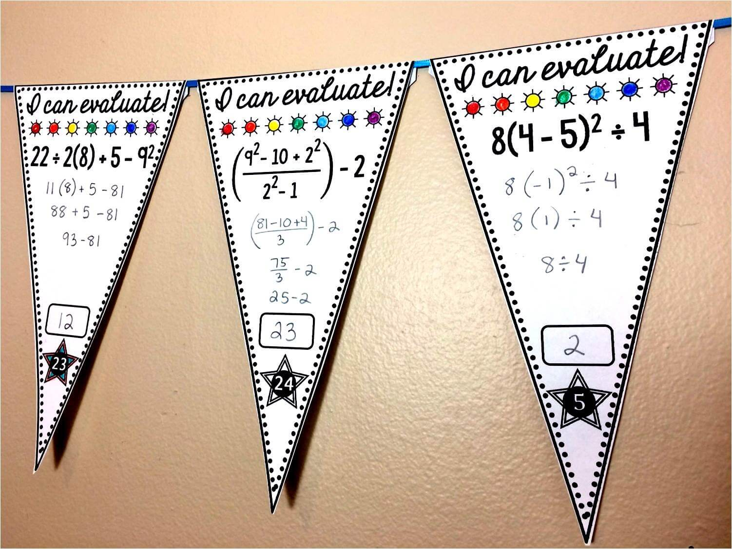 Scaffolded Math and Science: Free Math Pennants