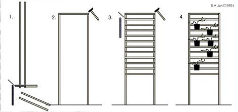 DIY - Rankhilfe - kleine Balkone gestalten.