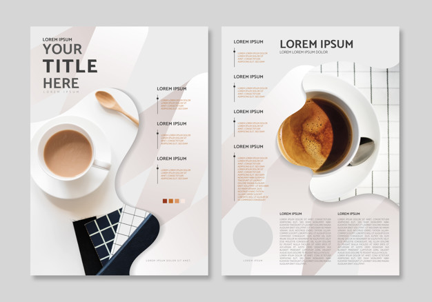 Magazine layout template Free Vector
