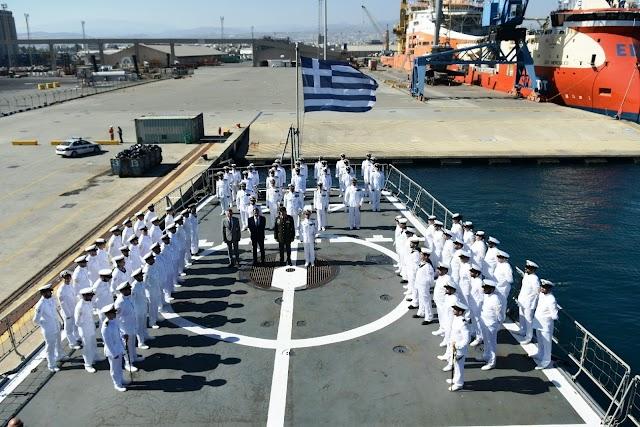Ολοκλήρωση επισκέψεως ΥΕΘΑ στην Κύπρο-Επίσκεψη στη Φ/Γ «ΚΑΝΑΡΗΣ» του ΠΝ που ναυλοχεί στη Λεμεσό (16 ΦΩΤΟ)
