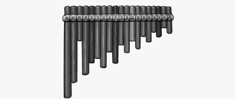 Ecuadorian panpipes(pan flute). Rondador.