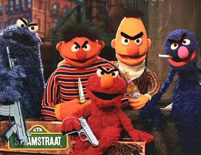 Böse Kinderstars in der Sesamstraße lustig - Bewaffnet und Streitlustig