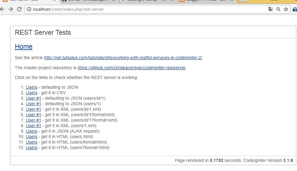 Cara install CodeIgniter Rest Api dengan library rest-server