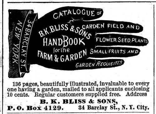 Publicitat artística en forma de ma de l'any 1879