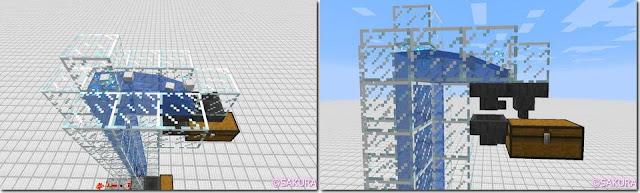 Minecraft Redstone Circuit 水流式アイテムエレベーター アイテム収納