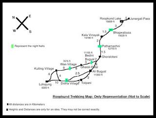 Roopkund Trek Map