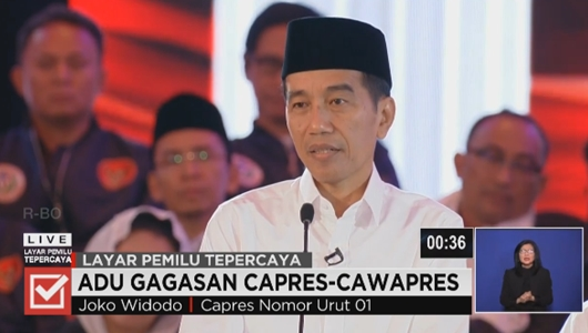 Pendukung Tertawa Saat Jokowi Singgung Kasus Ratna Sarumpaet