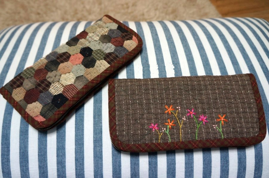 Sew Purse Wallet Patchwork & Quilts technique. DIY tutorial in pictures.