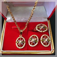 Jual Set Perhiasan Perak Batu Alexandri