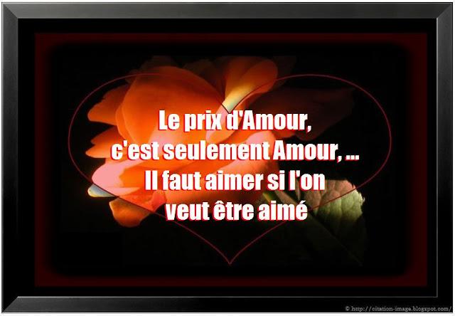 Citation d'amour ~ Citation en image : photo citation