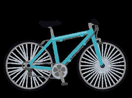 クロスバイクのイラスト(自転車)