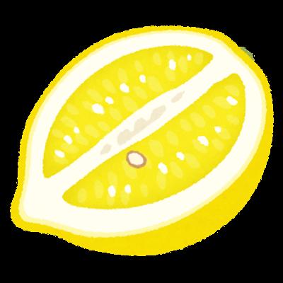 縦斬りのレモンのイラスト