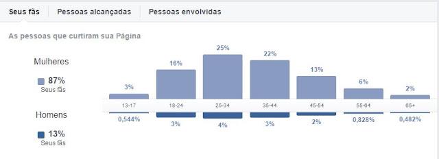 Gráficos demográficos do Saboreie Receitas