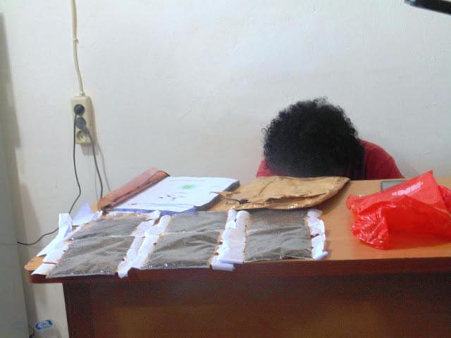 Oknum PNS Mimika Pemilik Ganja di Tangkap Polisi