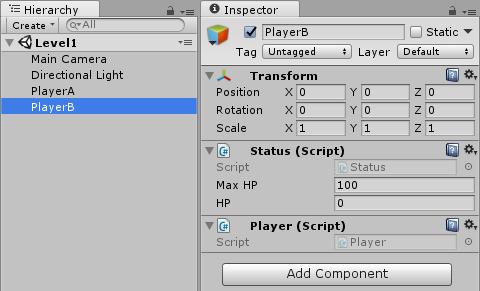 玩家 PlayB 的組件架構示意圖