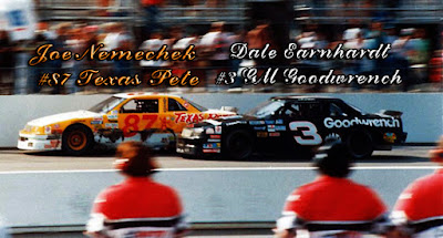 Joe Nemechek #87 Texas Pete Dale Earnhardt #3 Racing Champions 1/64 NASCAR diecast blog BGN win
