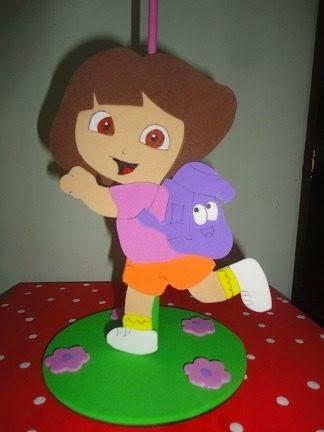 Enfeites de mesa Dora Aventureira