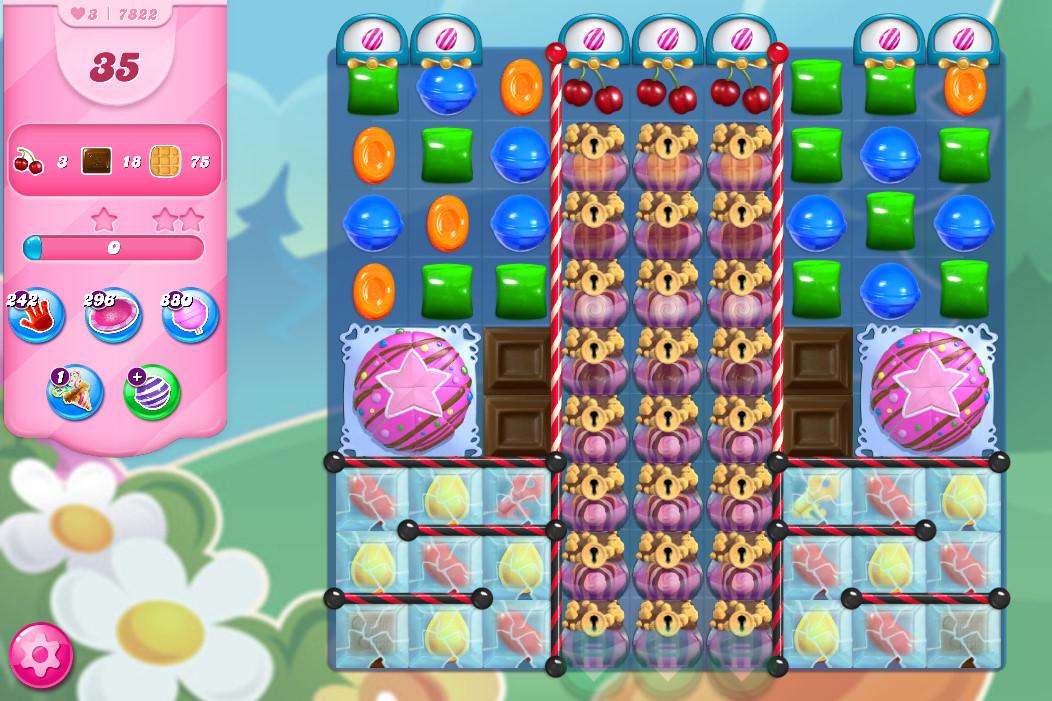 Candy Crush Saga level 7822