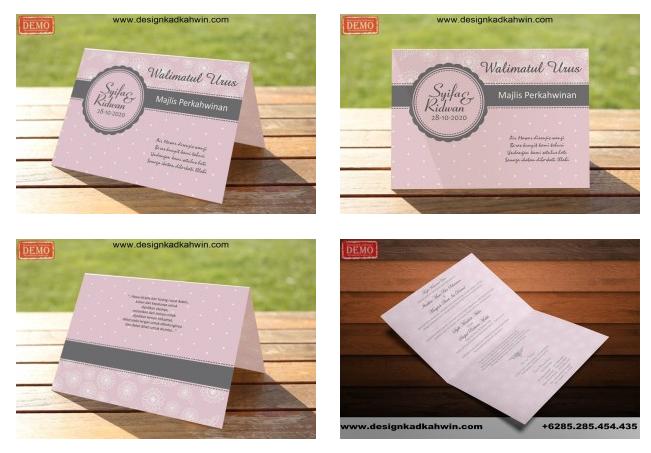 rekaan kad kahwin elegant dan modern