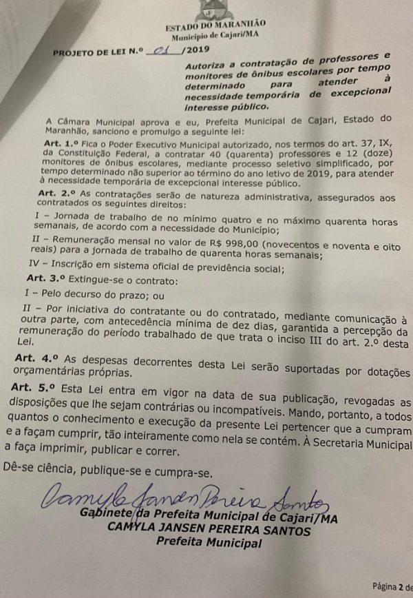 Dra. Camyla debocha do Ministério Público em Cajari