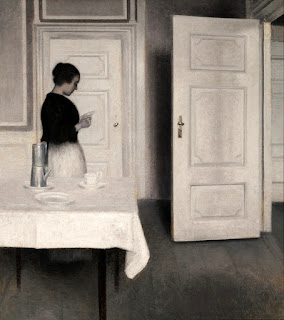 Vilhelm Hammershøi - Ида читает письмо