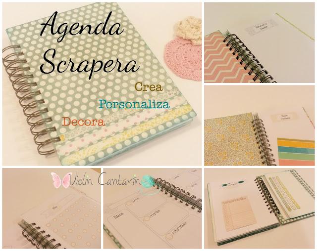 taller scrapbook, scrap, scrapbooking, agenda, crea y decora tu agenda, violin cantarin, violín cantarín