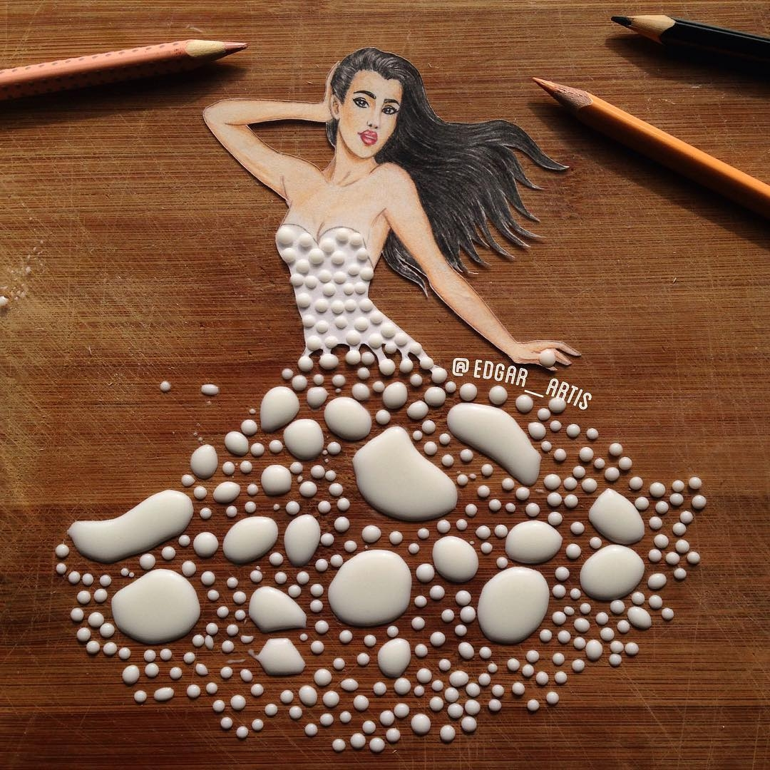02-Milk-Edgar-Artis-Drink-Food-Art-Dresses-and-Gowns-Drawings-www-designstack-co