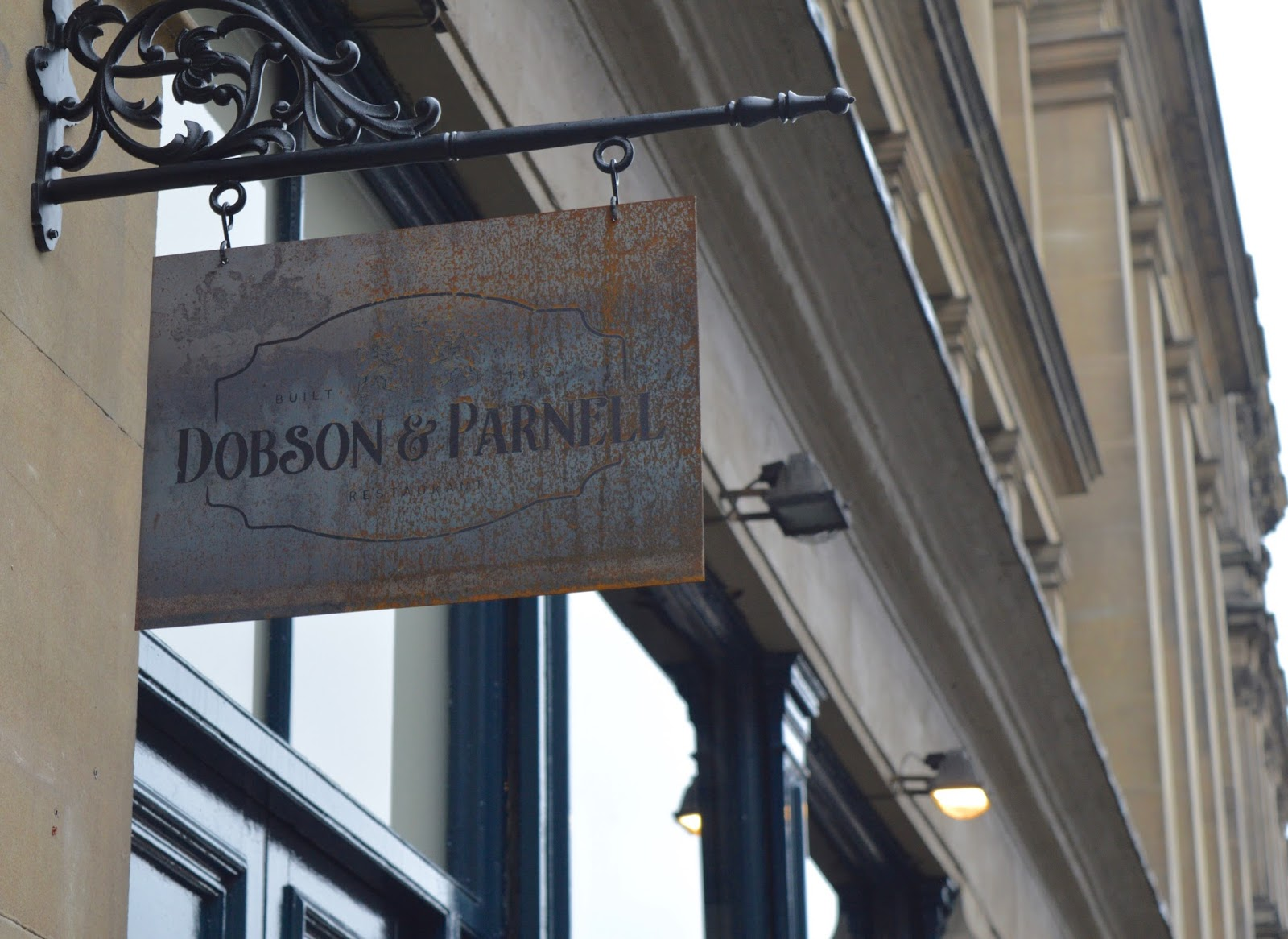 Dobson and Parnell Newcastle Menu Review  - exterior sign