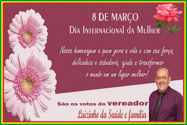 Vereador Luizinho da Saúde Homenageia as mulheres Abadienses