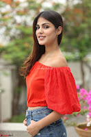 Rhea Chakraborty in Red Crop Top and Denim Shorts Spicy Pics ~  Exclusive 205.JPG