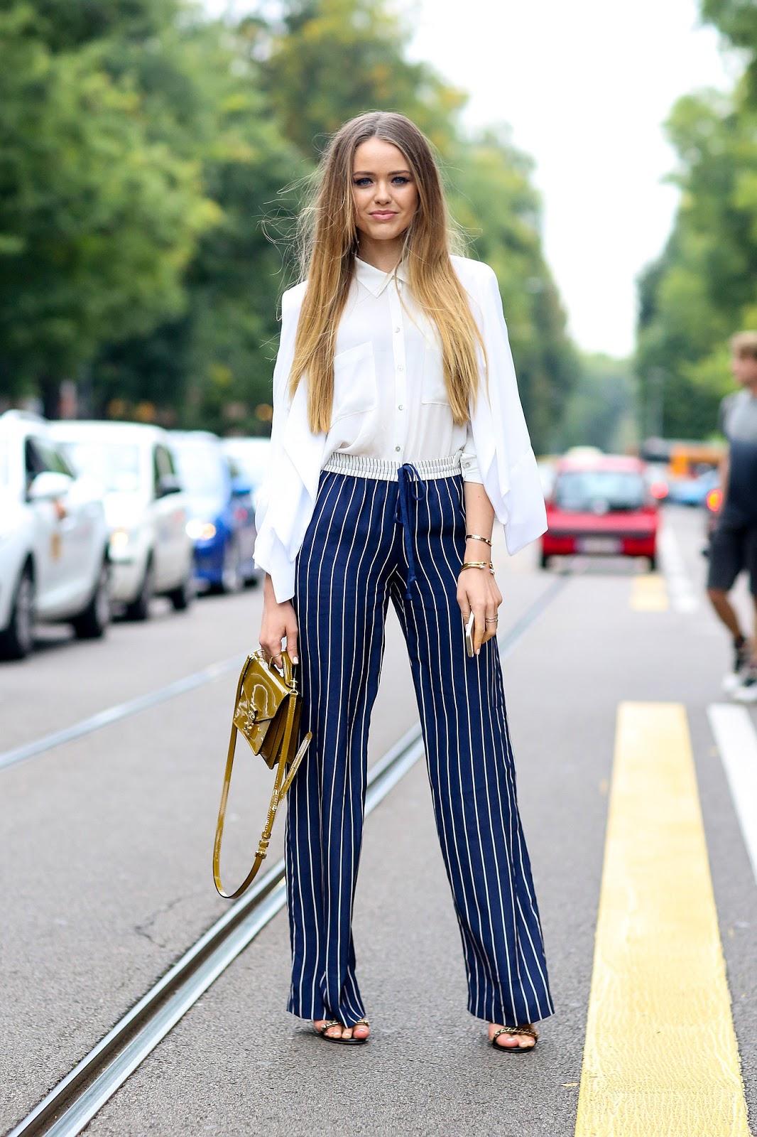 Pantalones A Rayas Para Mujeres Nuevos Modelos Moda Y Tendencias 2019 2020 Somosmoda Net