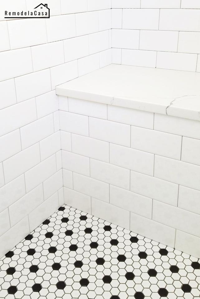 bathroom renovation tiling the shower