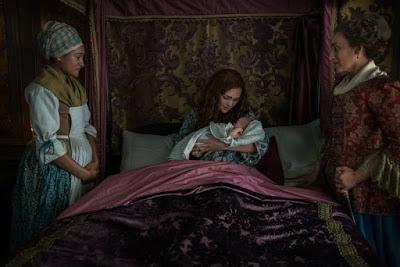Jocasta y Brianna durante el parto en River Run