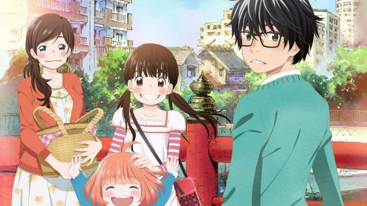 Setelah mencapai status profesional di sekolah menengah, Rei Kiriyama adalah salah satu dari beberapa elit di dunia shogi. Karena ini, dia menghadapi tekanan yang sangat besar, baik dari komunitas shogi dan keluarga angkatnya. Mencari kemerdekaan dari kehidupan rumah tangganya yang tegang, dia pindah ke sebuah apartemen di Tokyo. Sebagai seorang anak berusia 17 tahun yang hidup sendiri, Rei cenderung tidak mempedulikan dirinya sendiri, dan kepribadian tertutupnya mengucilkan dia dari teman-temannya di sekolah dan di aula shogi.