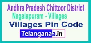 Chittoor District Nagalapuram Mandal and Villages Pin Codes in Andhra Pradesh State