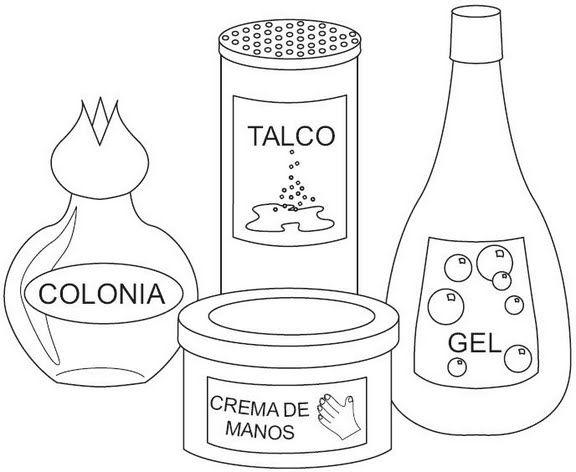 Dibujos Para Colorear De Elementos De Aseo Personal Imagui