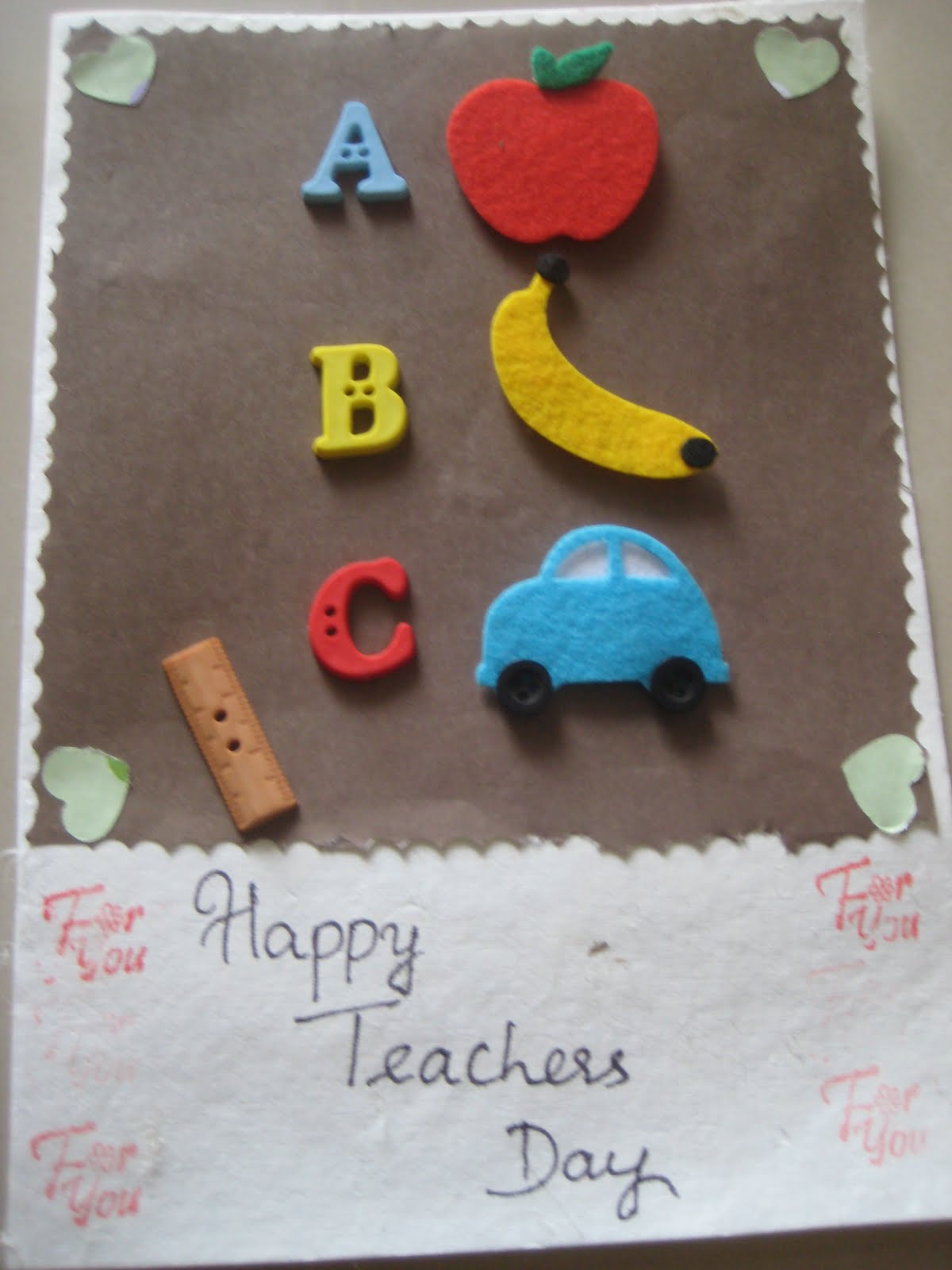 Happymomentzz Crafting By Sharada Dilip Teachers Day Card