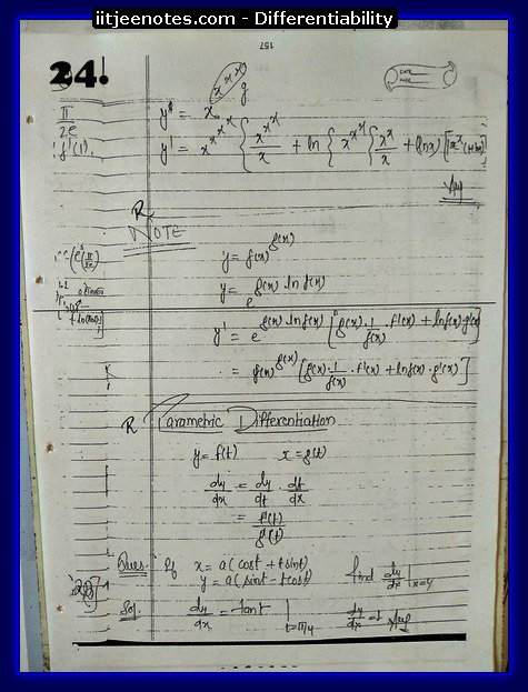differentiability notes iitjee2