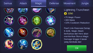 Lightning Truncheon Mobile Legends Bang Bang