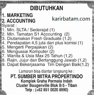 Lowongan Kerja PT. Sumber Mitra Propertindo