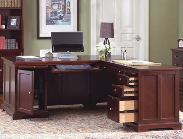 best wooden home office desk ideas pinterest with drawers and file cabinets