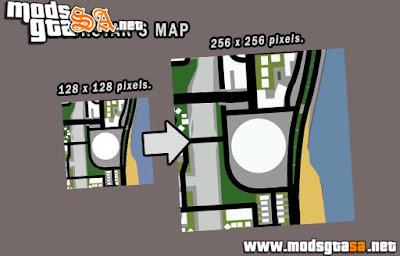 Mapa Rockstar para GTA SA