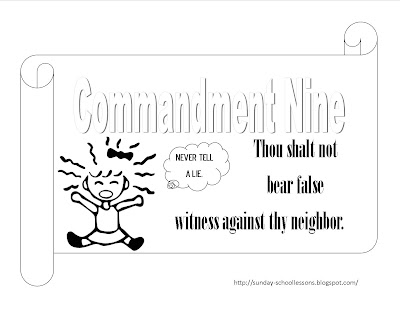 Sunday School Lessons of Plenty: 10 Commandments