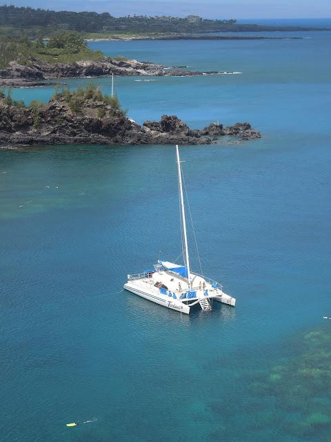 sailboat in Honolua Bay