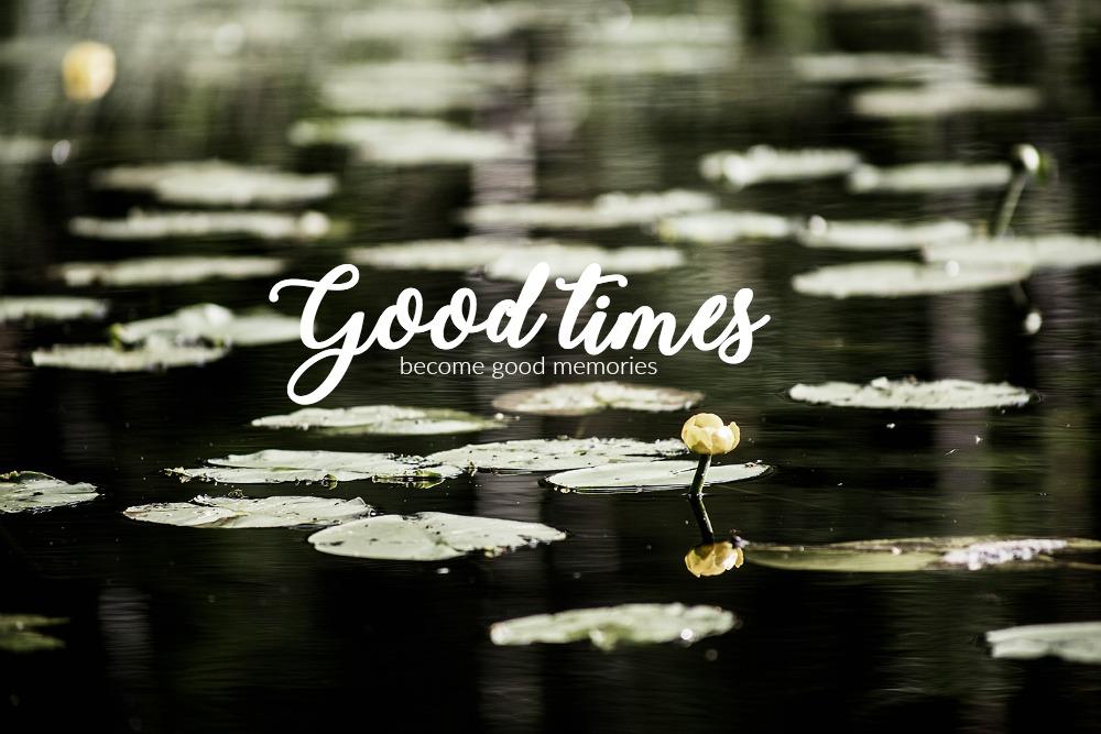 good, times, quote, lampi, nuuksio, pond, lumpeenkukka, luonto, ajatuksia, hyvä aika, mietelause, Frida Steiner, valokuvaaja, Visualaddict, Suomi, Finland, nature, photography, stillmoment