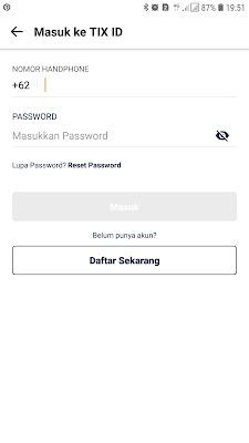 cara registrasi/daftar akun TIX ID
