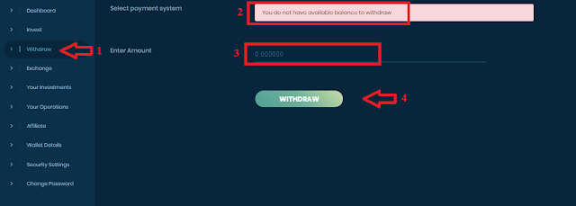 Вывод средств из проекта Biterois com