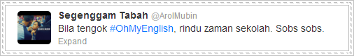 oh my english, rindu, twitter, tweet, tabah